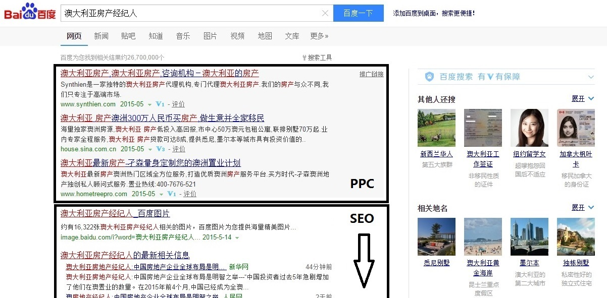 Baidu PPC Result
